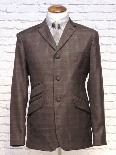 "The ""D Hill"" Brown & Duck Blue Check Jacket"